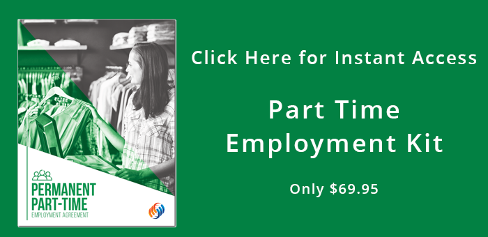 Part Time Employment Contract Instant download